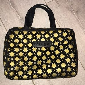 Falchi sport gold cosmetic bag double sided